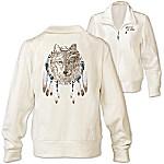 Spirit Of The Wild Women's Knit Wolf Jacket