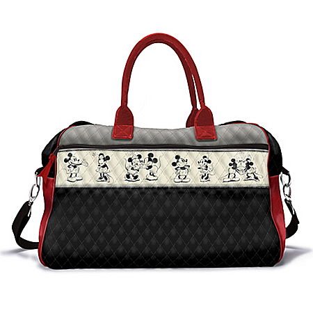 Disney Love Story Mickey Mouse And Minnie Mouse Quilted Weekender Bag