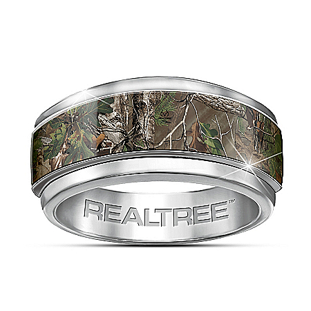 Sportsman REALTREE Camouflage Stainless Steel Men's Ring