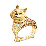 Best In Show Engraved 18K Gold-Plated Sheltie Ring