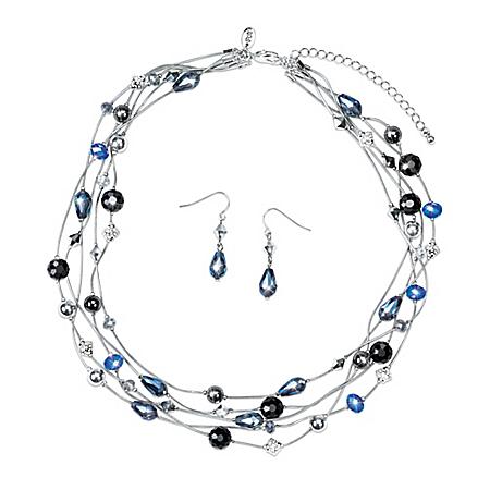 Winter Break Women's Necklace And Earrings Set