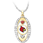For The Love Of The Game Louisville Cardinals Pendant Necklace