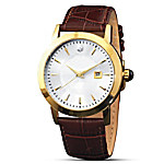For You, Forever Brown Leather Men's Watch