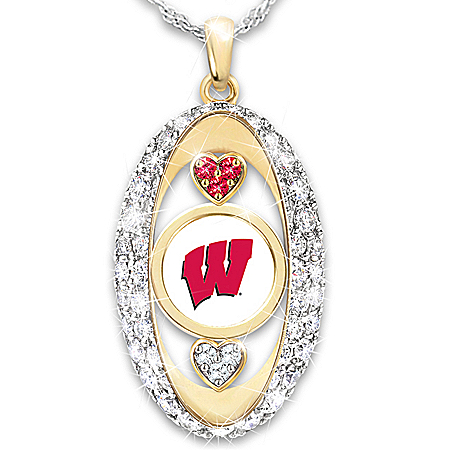 For The Love Of The Game Wisconsin Badgers Pendant Necklace