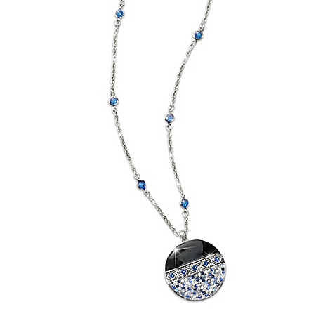 Ice Crystals Necklace With Mirror Back