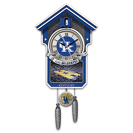 University Of Kentucky Wildcats College Basketball Cuckoo Clock