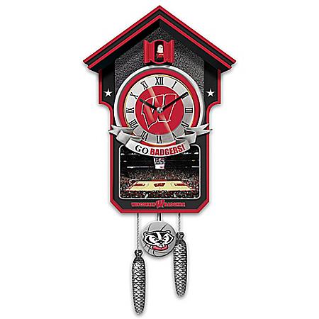 University Of Wisconsin Badgers College Basketball Cuckoo Clock