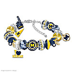 Fashionable Fan University Of Michigan Wolverines Bracelet