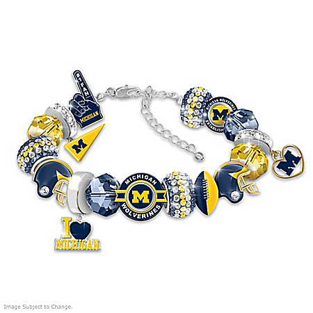 Fashionable Fan University Of Michigan Wolverines Bracelet