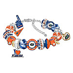 Fashionable Fan University Of Florida Gators Charm Bracelet