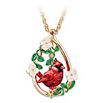 Cardinal Beauty Garnet Gemstone Pendant Necklace