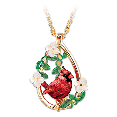 Cardinal Beauty Garnet Gemstone Pendant Necklace