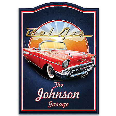 Chevrolet Bel Air Personalized Wooden Welcome Sign
