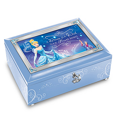 Disney A Dream Is A Wish Your Heart Makes Cinderella Music Box