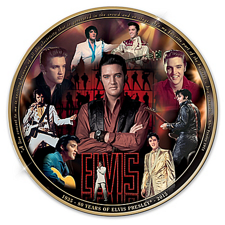 Elvis Presley 80th Anniversary Commemorative Collector Plate: 1 of 1935