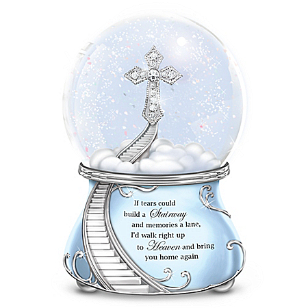 Loving Memories Musical Glitter Globe With Swarovski Crystal