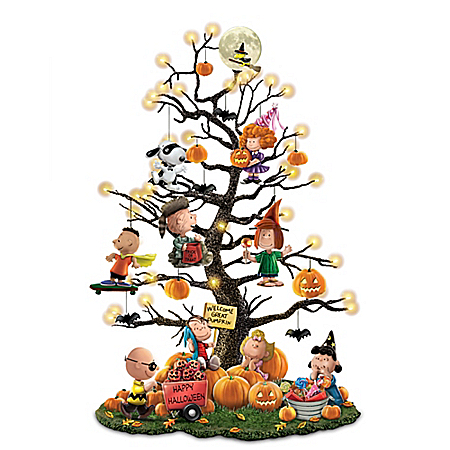 PEANUTS It's the Great Pumpkin Illuminated Halloween Tabletop Tree