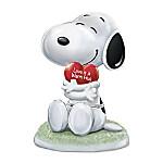 PEANUTS Snoopy, I Love You Heirloom Porcelain Music Box