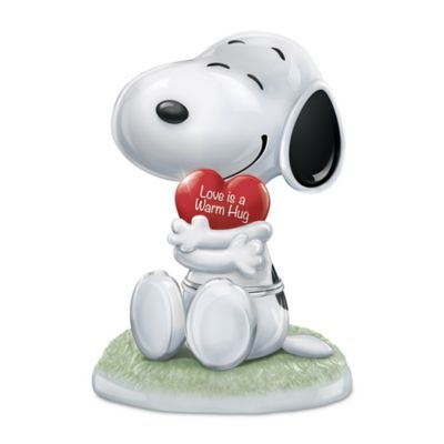 Bradford Exchange PEANUTS Snoopy, I Love You Heirloom Porcelain