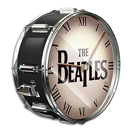 The Beatles Black Pearl Drum 12 Inch Wall Clock