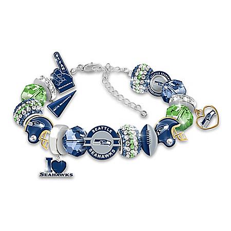 Fashionable Fan NFL Seattle Seahawks Women's Charm Bracelet