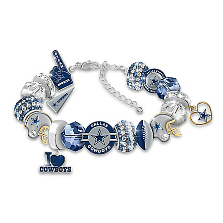 Fashionable Fan NFL Dallas Cowboys Women's Charm Bracelet