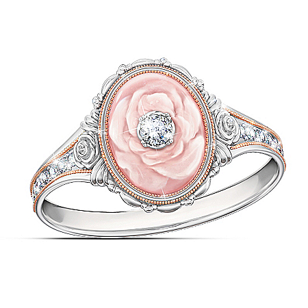 Downton Abbey-Inspired Lady Rose Quartz Women's Ring