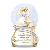 Forever In My Heart Musical Glitter Globe With Crystals