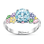 Thomas Kinkade Colors Of Inspiration Women's Floral Ring