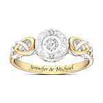 Let Your Heart Dance Personalized Women's Diamond Ring