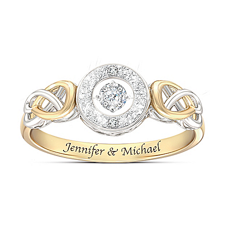 Let Your Heart Dance Personalized Women's Diamond Ring – Personalized Jewelry