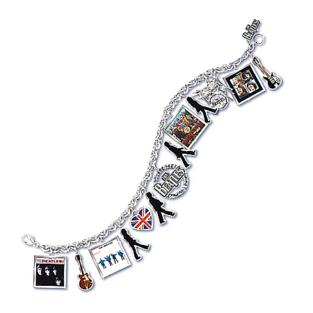 The Beatles Through The Years Women's Charm Bracelet