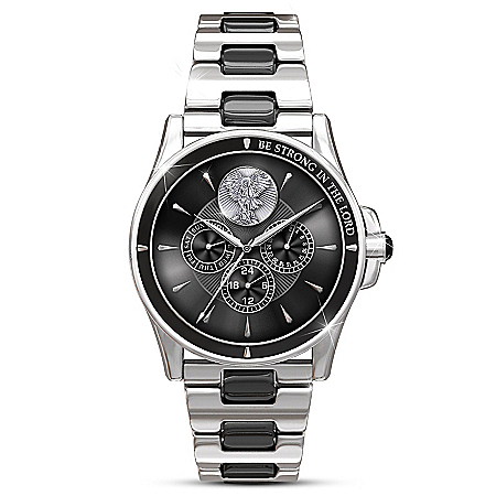 Triumph Of St. Michael Men's Stainless Steel Watch