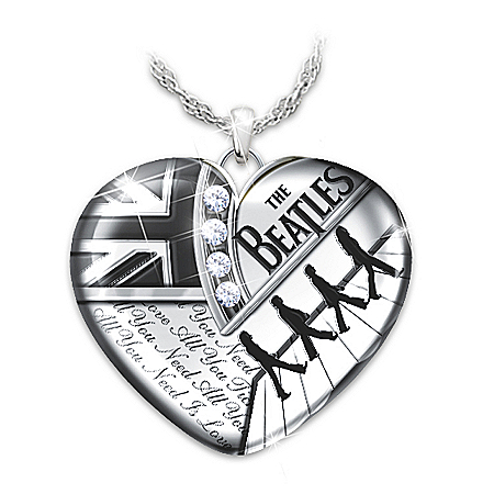 The Beatles Forever Heart Pendant Necklace