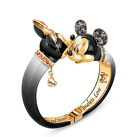 Disney Timeless Love Mickey Mouse And Minnie Mouse Bangle Bracelet
