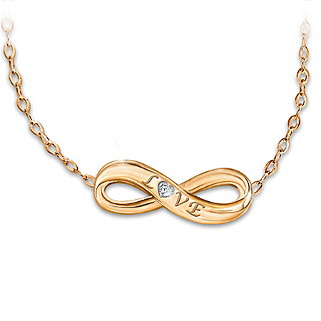 Today, Tomorrow, Always 18K Gold-Plated Infinity Diamond Necklace