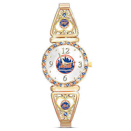 My New York Mets Women's Watch With Crystals