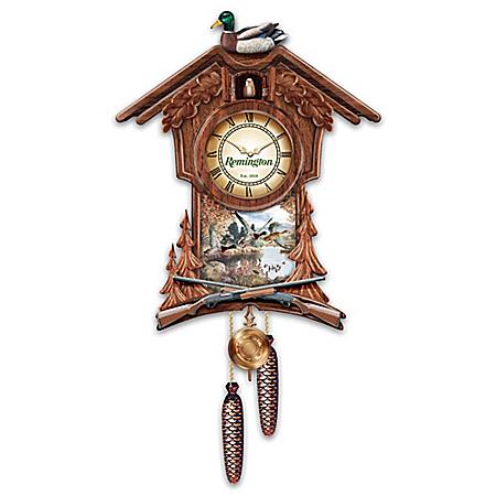 Remington Model 870 Duck Cuckoo Clock