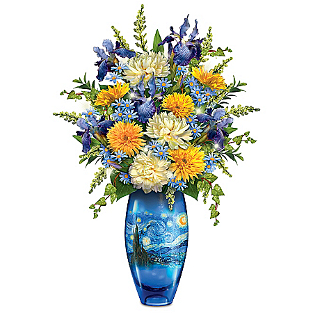 The Starry Night Illuminated Flower Centerpiece