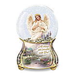 Thomas Kinkade Serenity Angel Musical Glitter Globe