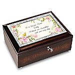 To A Special Friend Personalized Music Box With Poem Card
