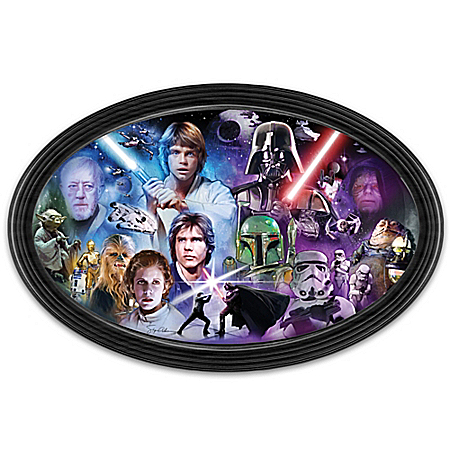 STAR WARS Light VS Dark Masters Of The Force Wall Decor