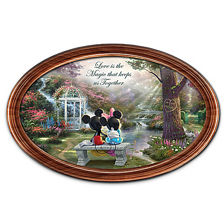 Disney The Magic Of Love Personalized Thomas Kinkade Collector Plate