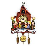 PEANUTS A Charlie Brown Christmas Illuminated Sculptural Cuckoo Clock