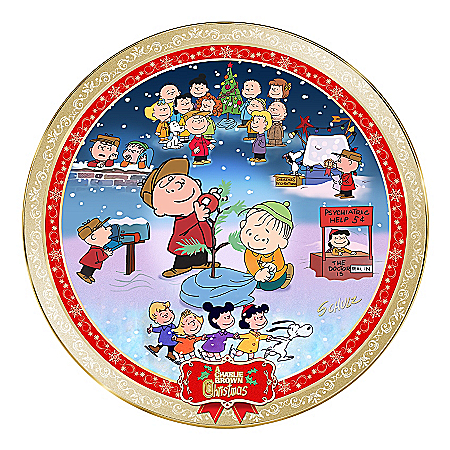 A Charlie Brown Christmas 50th Anniversary Collector Plate