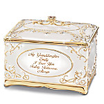 My Granddaughter, I Love You Personalized 18K Gold- And Silver-Plated Music Box
