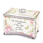 Granddaughter, I Love You With All My Heart Personalized Glass Music Box