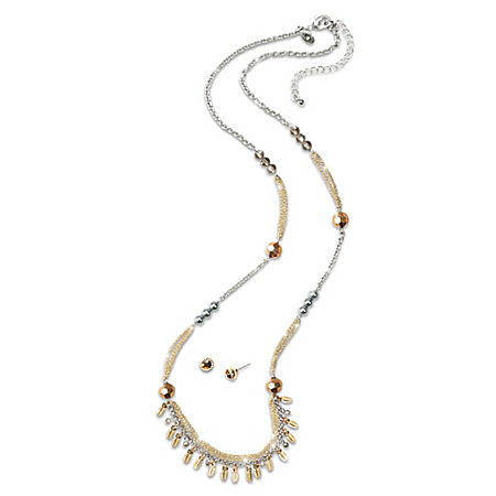 Windswept Women's Necklace And Stud Earrings Set