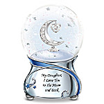 My Daughter, I Love You To The Moon And Back Snowglobe With Moon And Heart Charm