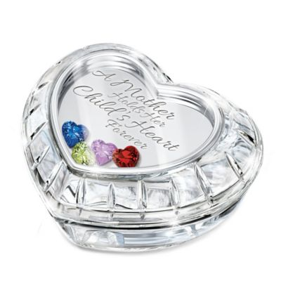 Bradford Exchange A Mother Holds Her Child's Heart Forever Personalized With Swarovski Crystal Birthstones